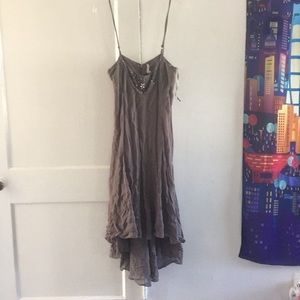20s style flapper dress with  beaded neckline